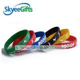 Erstaunliches Fashionl geprägtes Großhandelssilikon Wristband&Bracelet für Sport-Geschenk