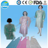 Delantal quirúrgico disponible del PE, delantales plásticos