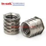 Porca da inserção rosqueada de aço inoxidável para componentes plásticos
