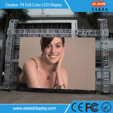Alta pantalla de alquiler a todo color al aire libre impermeable IP65 P8 LED TV