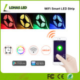 luz de tira flexible de 12V 5050 SMD 5m/Roll 300 LED RGB WiFi Smartled