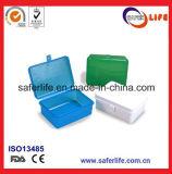 Tamanho plástico transparente colorido do Portable da caixa de armazenamento da maleta de ferramentas da alta qualidade barata