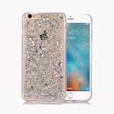 贅沢なBlingのきらめきの輝きTPUの保護シェルiPhone 7のための豊富なホイルの箱