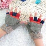 Перчатки теплых детей оптовой зимы новые связанные Fingerless с перчатками Clamshell