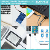 cabo trançado de nylon do carregador do cabo do USB de pano da tela nova de 1m para Samsung