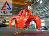 El compartimiento hidráulico eléctrico del gancho agarrador de la cáscara de Orangel funcionó con la grúa que viajaba a la basura del cargamento