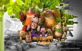 3D Kinderen van de van het Achtergrond landschap van het Beeldverhaal Huis van het Olieverfschilderij Milieu Verse