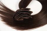De Uitbreiding van het Haar van Remy van het Weefsel van het Menselijke Haar van 100% klem-in de Uitbreidingen Recht 8PCS /Set van het Haar