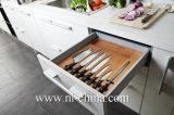 Gabinetes de cozinha UV da porta da grão de madeira lustrosa elevada