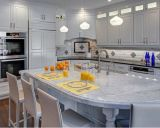 Gabinete de cozinha modular clássico da madeira contínua