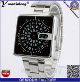Yxl-371 새로운 디자인 메시 결박 Mens 시계 석영 디지털 크로노그래프 스테인리스 형식 시계