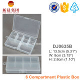 6개의 격실에 의하여 편성되는 플라스틱 상자