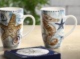 Tazas de café de encargo blancas 16oz del llano de cerámica popular de la taza