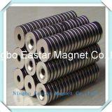 NdFeBシリンダー中心の穴が付いているまれな磁石の磁石