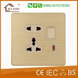 15A eléctrico de pared enchufe de zócalo con el certificado del Saso
