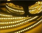 세겹 줄 빨간 LED 테이프 빛