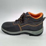 Zapatos de funcionamiento de la seguridad de la PU de la punta de acero de cuero de los hombres únicos Ufe033