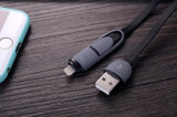 Universel 2in 1 câble micro de synchro de caractéristiques d'USB pour l'iPhone pour l'androïde