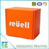 Nette orange Farben-PappeKeychain verpackenkasten