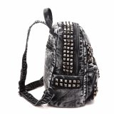 Trend Style Rivets Ladies Denim Sac à dos (MBNO040037)