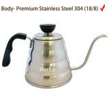 700ml de Ketel van de Koffie van het roestvrij staal
