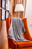 Cobertor liso do luxuoso do cobertor do velo do picovolt