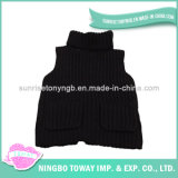 뜨개질을 한 아기 옷 자라목 스웨터 스웨터 검정 소년 스웨터 조끼