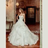 Do laço de Tulle de esfera dos vestidos do querido de Organza vestidos 2017 de casamento nupciais A9258