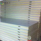 El panel de emparedado de la espuma de poliuretano para el sitio de conservación en cámara frigorífica