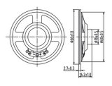 66mm Papierradioauto-Minilautsprecher Dxyd66n-18z-16A des lautsprecher-16ohm 1W