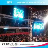 Grand P6 Afficheur LED de location d'intérieur polychrome d'intérieur, angle de visualisation large de location de mur visuel de DEL