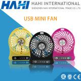 Bestes Sommer-Geschenk batteriebetriebener Minihandventilator USB-LED