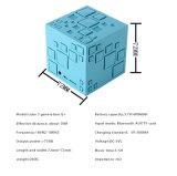 Form-Entwurfs-Würfel-Minilautsprecher für Handy