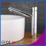 Colpetto di miscelatore d'ottone dell'acqua di Hot&Cold del rubinetto di lavabo della stanza da bagno maniglia lunga del becco del bicromato di potassio di Fyeer della singola Wasserhahn