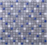 3D Miditerraneanの海の青い陶磁器の暗い灰色の木の大理石のモザイク(FYST186)