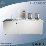 Générateur de glace approuvé de machine de glace d'acier inoxydable de compteur de Tableau de la CE légère bleue de banc