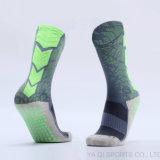 Экипаж скида представления упорный Socks носки футбола СРЕДНИХ носок скида футбола икры Non Anti-Slip