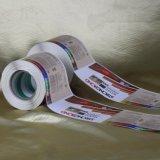 Etiqueta adesiva feita sob encomenda da etiqueta da alta qualidade