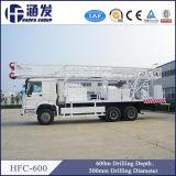 Perforadora montada carro del receptor de papel de agua de las plataformas de perforación Hfc-600 del agua profunda