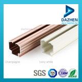 Profil en aluminium d'extrusion en vente de rideau de longeron chaud de piste avec la couche anodisée de poudre