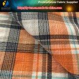 オレンジポリエステルAtyの衣服(YD1164)のためのヤーンによって染められるジャカード小切手ファブリック