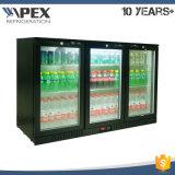 охладитель пива холодильника штанги задней части двери качания 320L 3 стеклянный с вентилятором помог системе охлаждения