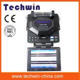 Giuntatrici di fibra ottica Tcw605 di fusione di Techwin competenti per costruzione delle righe di circuito di collegamento e di FTTX