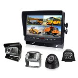 DC12V-24V 7inch Quad Rear View Car LCD Monitor 4CH AV pour camion, autobus scolaire