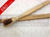 2-PC Set Eco-Friendly Bamboo Toothbrush com bambu cerda
