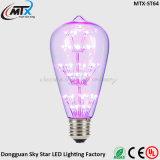 De Purple blauwe Gele Kleur Decoratieve Edison Bulb LED van Edison Globe
