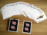 Tarjetas que juegan de papel promocionales italianas/tarjetas que juegan del póker de encargo