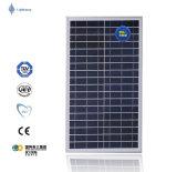Panneau solaire 30W poly pour la lumière solaire de hors fonction-Réseau et le réverbère