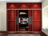 La camera da letto poco costosa di vendita calda del portello della trasparenza del prodotto nuovo copre il guardaroba (UL-WR061)