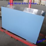 стекло зеркала стекла поплавка 4mm толщиное алюминиевое, двойное Coated с технологией покрытия вакуума Sputtering магнетрона для применений мебели и ванной комнаты